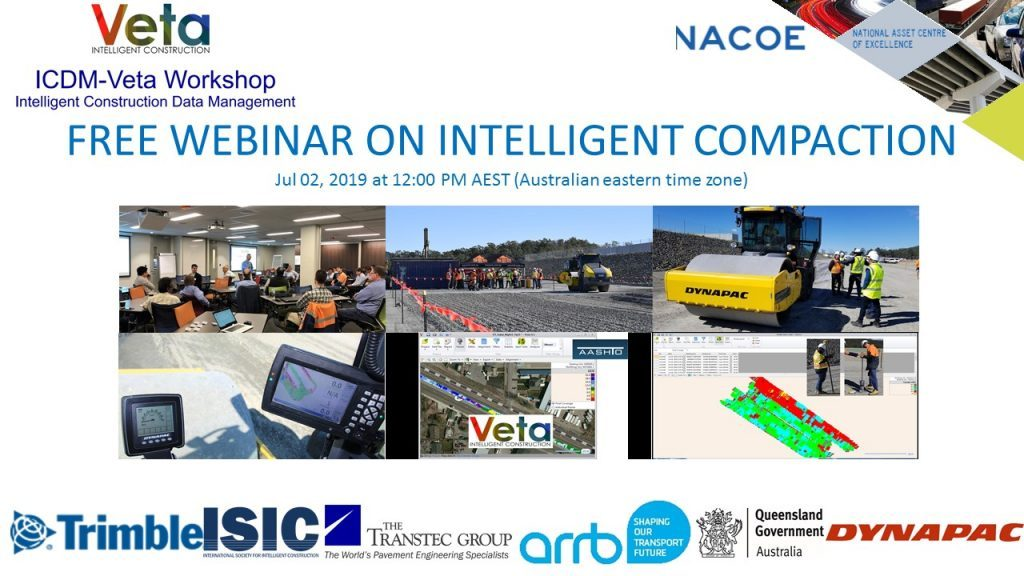 Free Webinar on Intelligent Compaction by ARRB and The Transtec Group