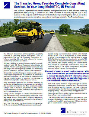 The Transtec Group Provides Complete Consulting Services to Year-Long MoDOT IC, IR Project